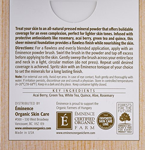 Eminence Vanilla Cream Antioxidant Mineral Foundation, Light, 0.28 Ounce
