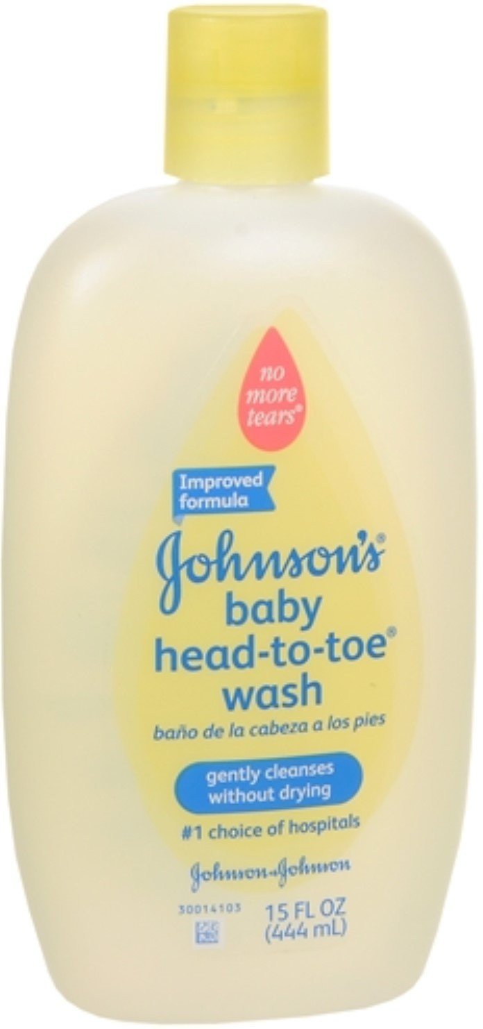 JOHNSON'S Head-To-Toe Baby Wash 15 oz (Pack of 3) J&J