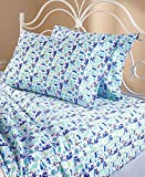 ocean sheets - Elite Home Products 90 GSM Microfiber Coastal Beach-Themed Printed Sheet Set, Queen, Clearwater Aqua