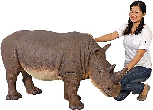 Design Toscano Grand Scale Rhinoceros Statue