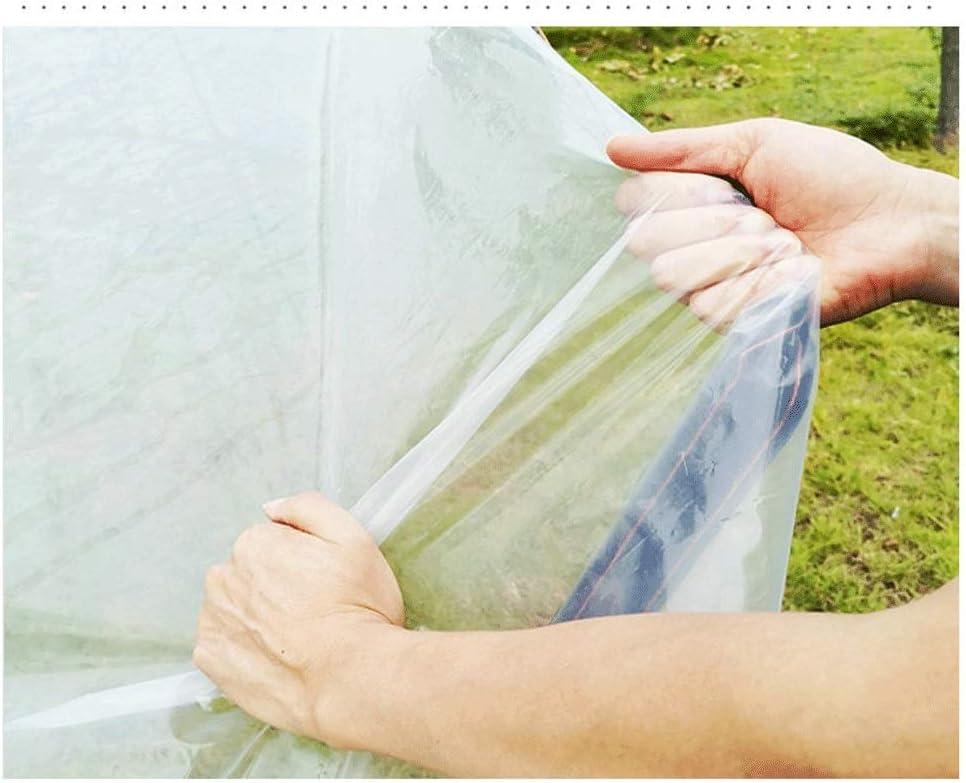 Wasserdicht Winddicht Persenning verdicken umh/üllten Rand Faltbare Klar Tarp mit Metall-Loch-Augen-Kunststoff for Auto Vegetation wasserdichte transparente Color : Black Border, Size : 1x1m