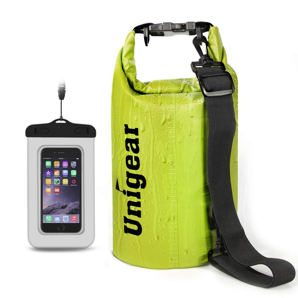 Unigear Sacs Imperm/éables//Sacs Etanches pour Activit/és de Plein Air et Sports Aquatiques Camping Nautique Kayak P/êche 6 Types de Taille: 2L//5L//10L//20L//30L//40L avec Une Pochette /étanche de T/él/éphone