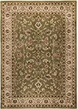 Well Woven Barclay Sarouk Green Traditional Area Rug 7'10'' X 9'10''