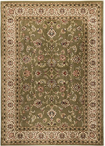 12'6' Runner (Well Woven Barclay Sarouk Green Traditional Area Rug 9'3'' X 12'6'')