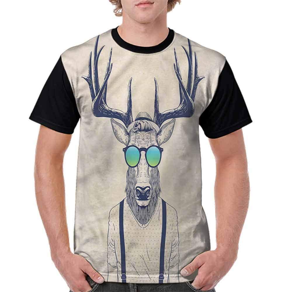Printed T-Shirt,Hipster Cool Fun Animal Fashion Personality Customization