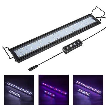 """60-LEDs White /& Blue LED Light Full Spectrum Aquarium Fish Tank Light 18/""""-24/"""""""