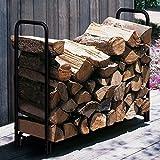 Amagabeli 4ft Firewood Rack Outdoor Log Holder