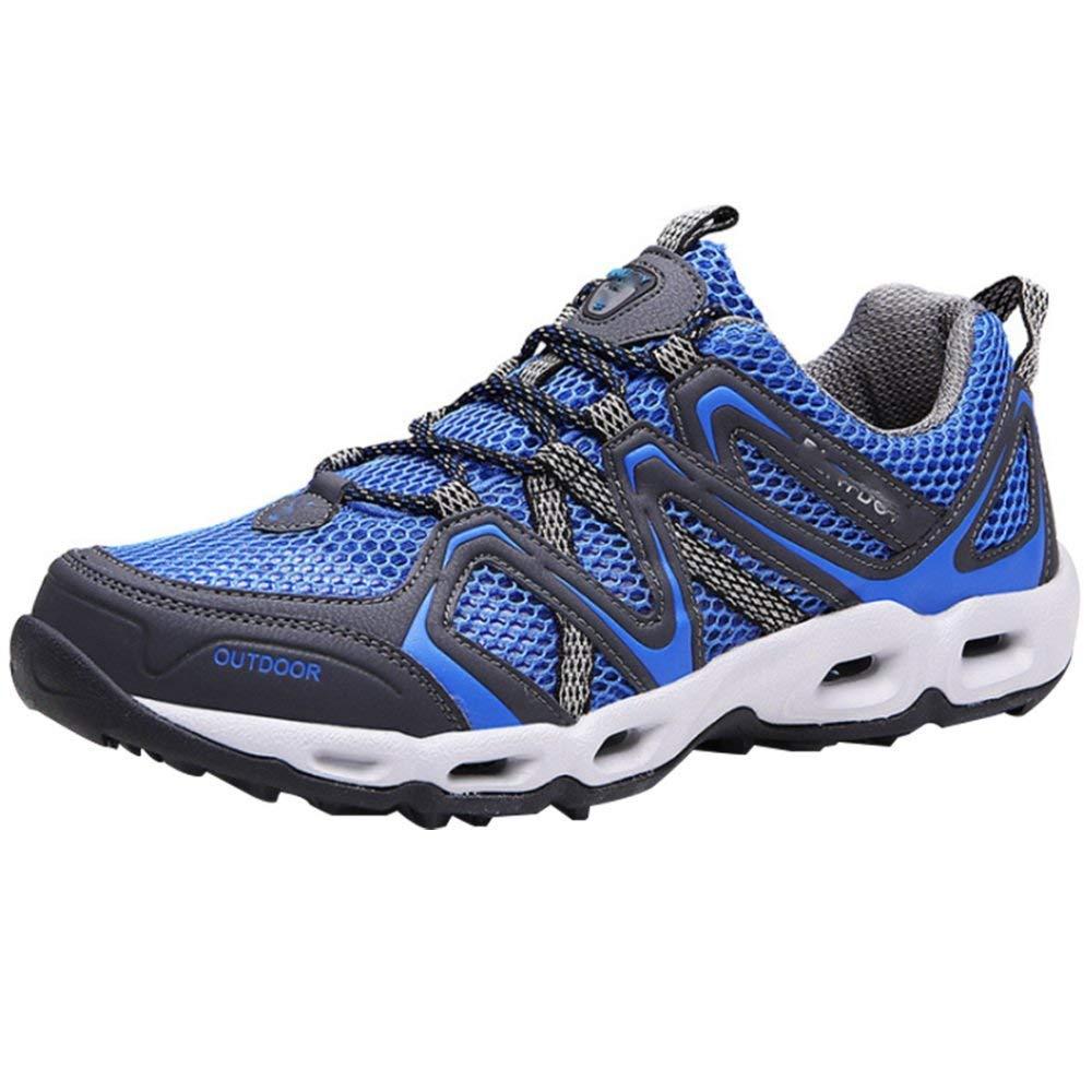 Oudan Beiläufige Wandernde Sportschuhe Der Männer Beschuht Laufende Schuhe Der Schuhe Im Freien Wasserschuhe Atmungsaktivem Maschenkomfort (Farbe   Blau, Größe   44EU)