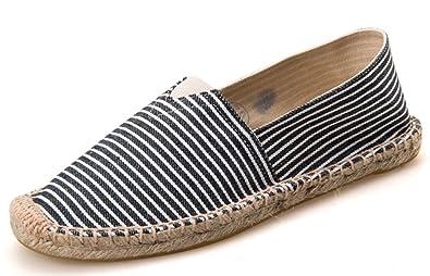 69e988f1172 Amazon.com | IDIFU Women's Men's Casual Striped Slip On Flat ...