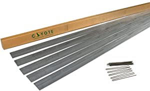 """Coyote Landscape Products 5 each 6"""" X 8' x 18 gauge Rolled Top Plated Lawn Edging Home Kit with 15 each Plated Edge Pins"""
