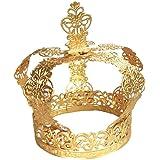 BESTONZON Crown Cake Topper Birthday Cake Crown Decoration Flower Centerpieces Wedding Birthday Festival Party Supplies