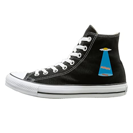 a616dc84456 SH-rong Bacon And Egg Alien Spaceship UFO High Top Sneakers Canvas Shoes  Slip On