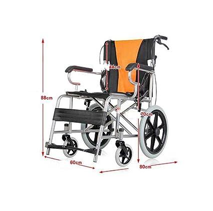 Silla de ruedas de viaje para personas de edad avanzada Silla de ruedas para personas de