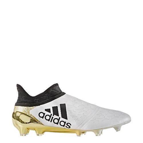 X 16?+ Pure Caos FG/AG?–?Tacchetti da calcio?–?Bianco/Nero/Oro Metallizzato