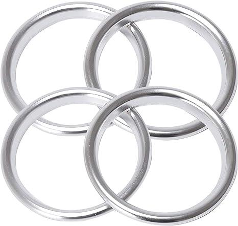 Marchfa Auto Styling Klimaanlage Belüftung Aluminiumlegierung Ring Dekoration Aufkleber Packung Mit 4 Stück Silber Auto