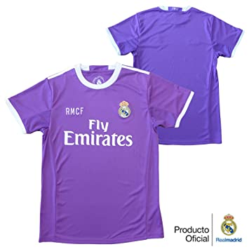 CAMISETA 2ª EQUIPACION REPLICA OFICIAL REAL MADRID 2016-2017 LISO ADULTO (XL): Amazon.es: Deportes y aire libre