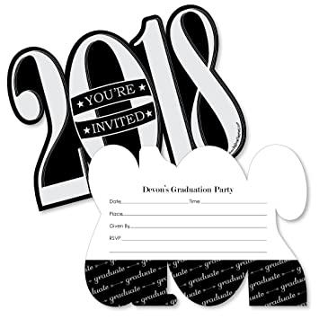 Amazon custom graduation cheers personalized 2018 shaped custom graduation cheers personalized 2018 shaped graduation party invitations fill in invitation cards with filmwisefo