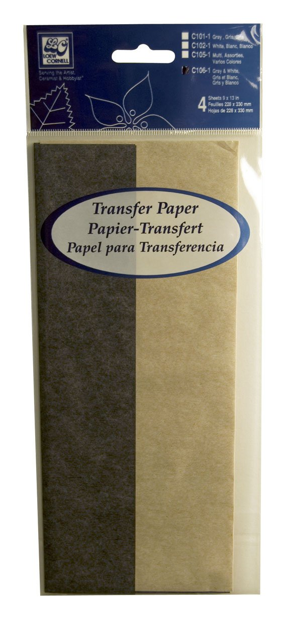 Loew-Cornell C101-1 4-Piece Grey Transfer Paper 9-Inch-by-13-Inch