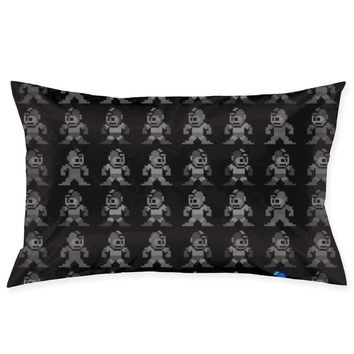 Ciuaole Throw Pillow Covers Where's Mega Man Standard Pillowcases 20 x 30 Inch Ultra Soft Microfiber