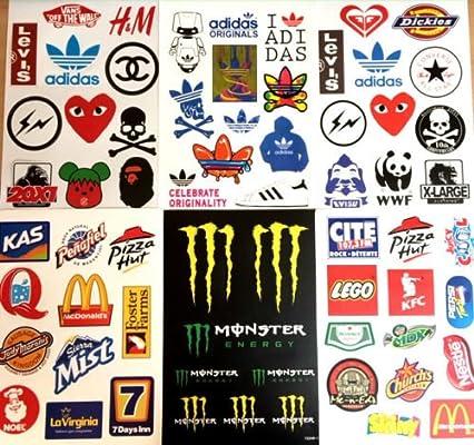 6 x A4 Hojas de pegatinas Logo Stickerbombing lacado JDM, para ...