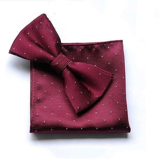 BAIJJ Corbatas Pajarita Hombre Pañuelo Corbata Plegable Pre-Atado ...