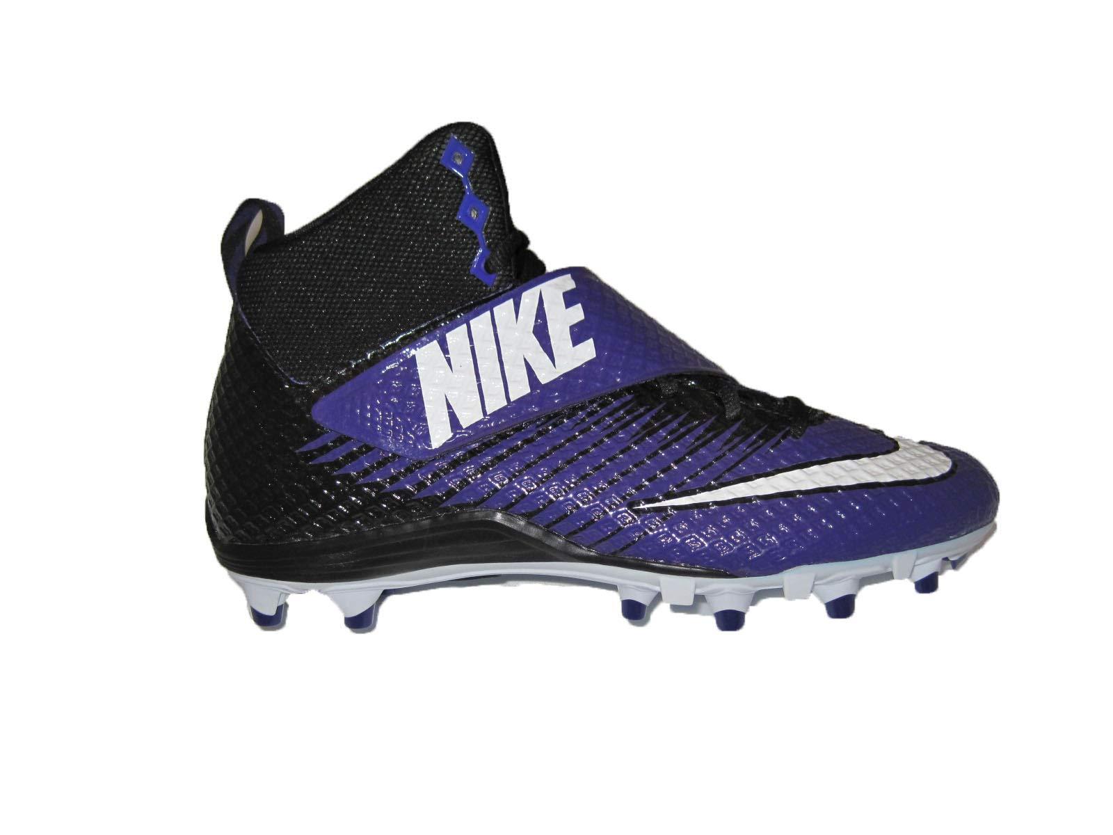 Nike Men's Lunarbeast Pro TD Football Cleat (9 M US, Black/Purple//White)