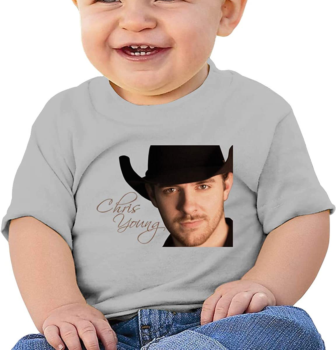 Honshang Chris Young Wallpaper Cute Gray Tshirts for Infant Tee