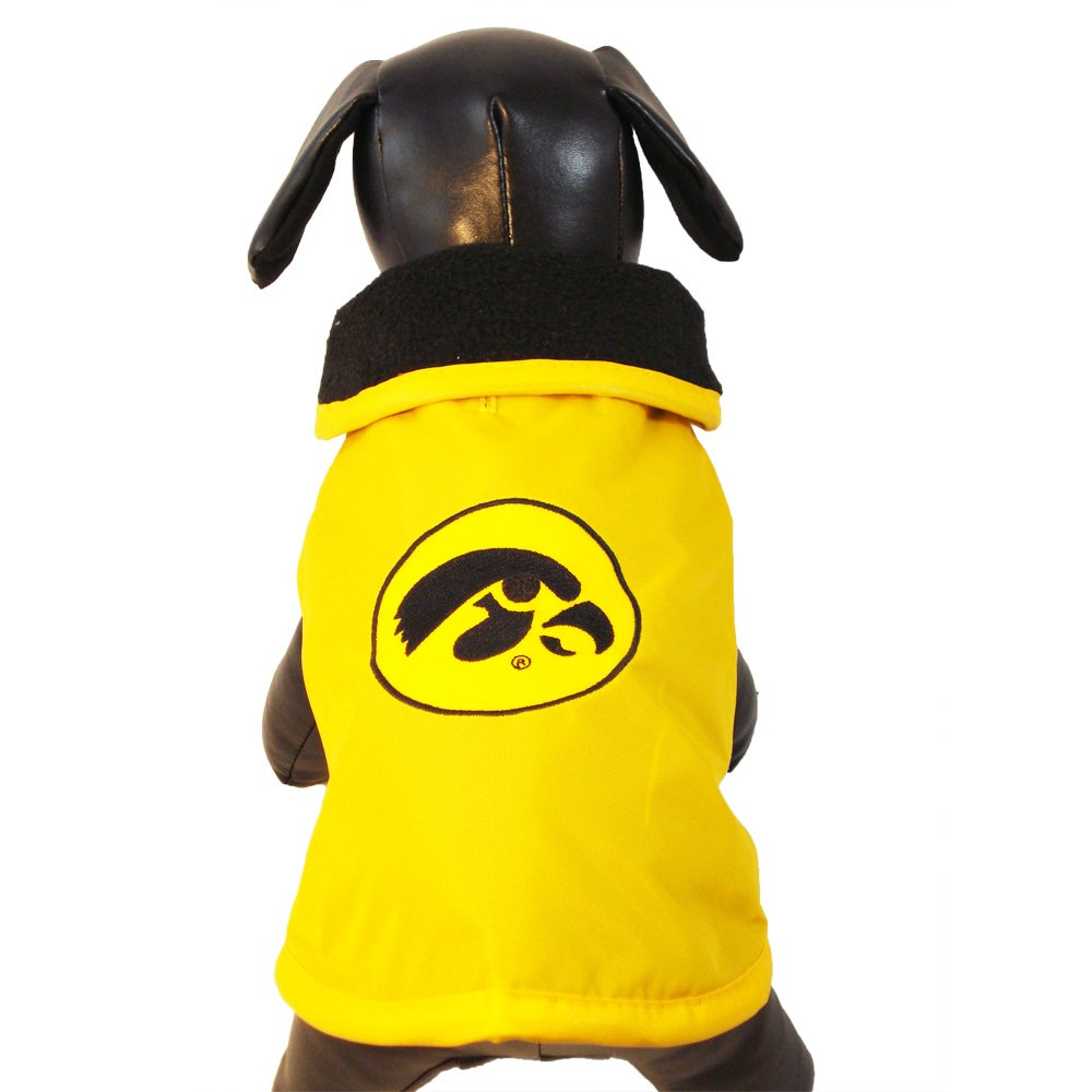 Tiny NCAA Iowa Hawkeyes All Weather Resistant Predective Dog Outerwear