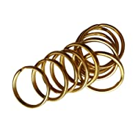 Baoblaze 20x Brass Keyring Split Key Rings 15mm/12mm Hoop Loop Collectible DIY Crafts