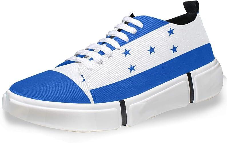 Super3Dprinted - Zapatillas Informales para Hombre, diseño de la Bandera de Honduras, Multi, 37 EU: Amazon.es: Zapatos y complementos