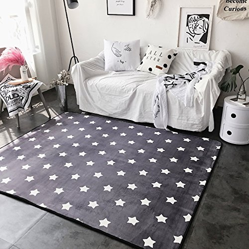 Ukeler Super Soft Memory Foam Area Rug for Bedroom Bedside Abstract Water and Oil Kitchen Rug and Carpet, 31.5''x74.8'', Star (Living Foam Rugs Room Memory For)