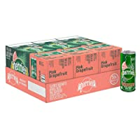 Perrier Pink Grapefruit Flavored Carbonated Mineral Water, 8.45 Fl Oz (30 Pack)...
