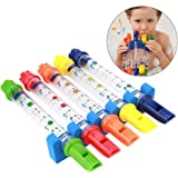 XYKTGH Kids Bath Toys Water Flutes Tub Tunes Whistles Music Toys, Early Development Musical Instrument Set of 5