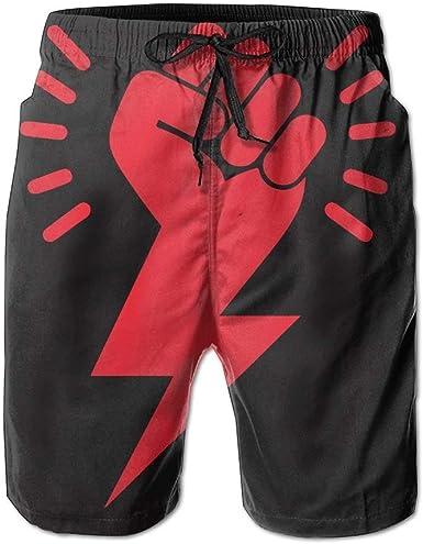 AW Shorts de Playa de Secado rápido, Ligeros, para Hombre