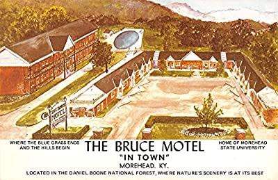 Morehead Kentucky Bruce Motel Birdseye View Vintage Postcard K41740
