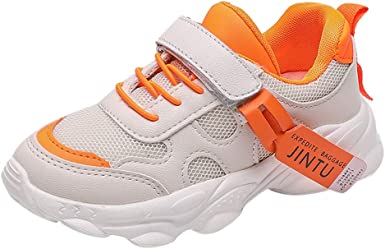 Jusefu Boys Girls Lightweight Breathable Sneakers Strap Athletic Walking Running Shoes for Little Kids//Toddler Tennis Shoes