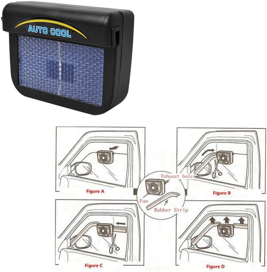 Starnearby Air Vent Ventilateur Solaire pour Voiture