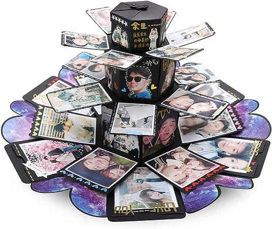 VEESUN Caja de Regalo Creative Explosion Box 6 Caras, DIY Álbum de Fotos Scrapbook Caja, San Valentin Navidad Regalos Originals Artesanales Mujer Hombre Novio Niña Niños, Forma de Torre: Amazon.es: Hogar