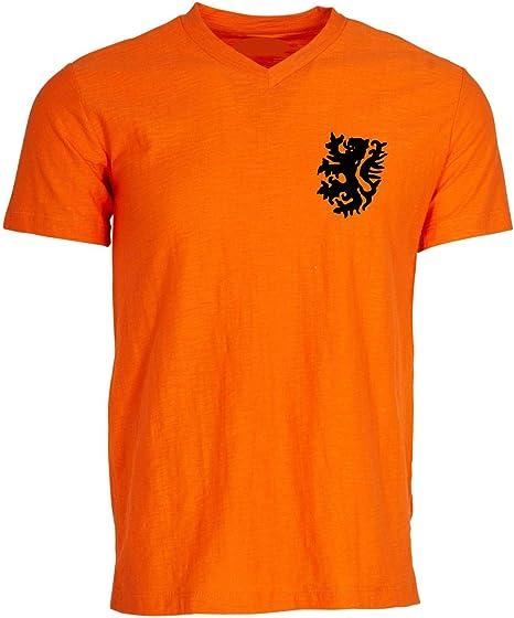 Países bajos Holanda holandés Fútbol Retro camisa camiseta, camiseta Retro, World Cup 74 Talla:small: Amazon.es: Deportes y aire libre