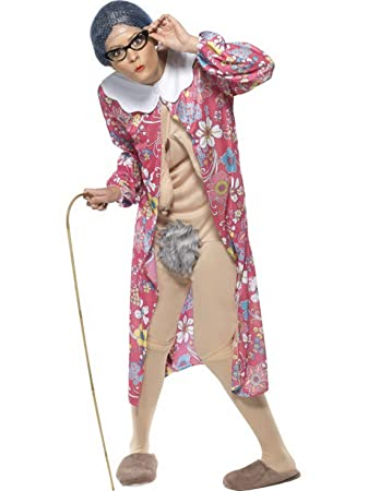 Halloweenia Damen Frauen Schwerkraft Alte Oma Kostum Mit