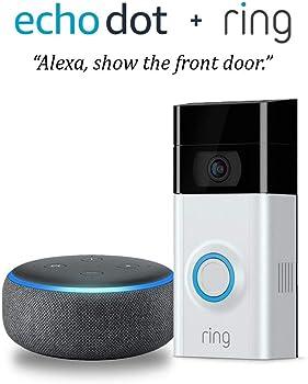 Ring Wi-Fi Enabled Video Doorbell 2 (v2) + Echo Dot (3rd Gen)