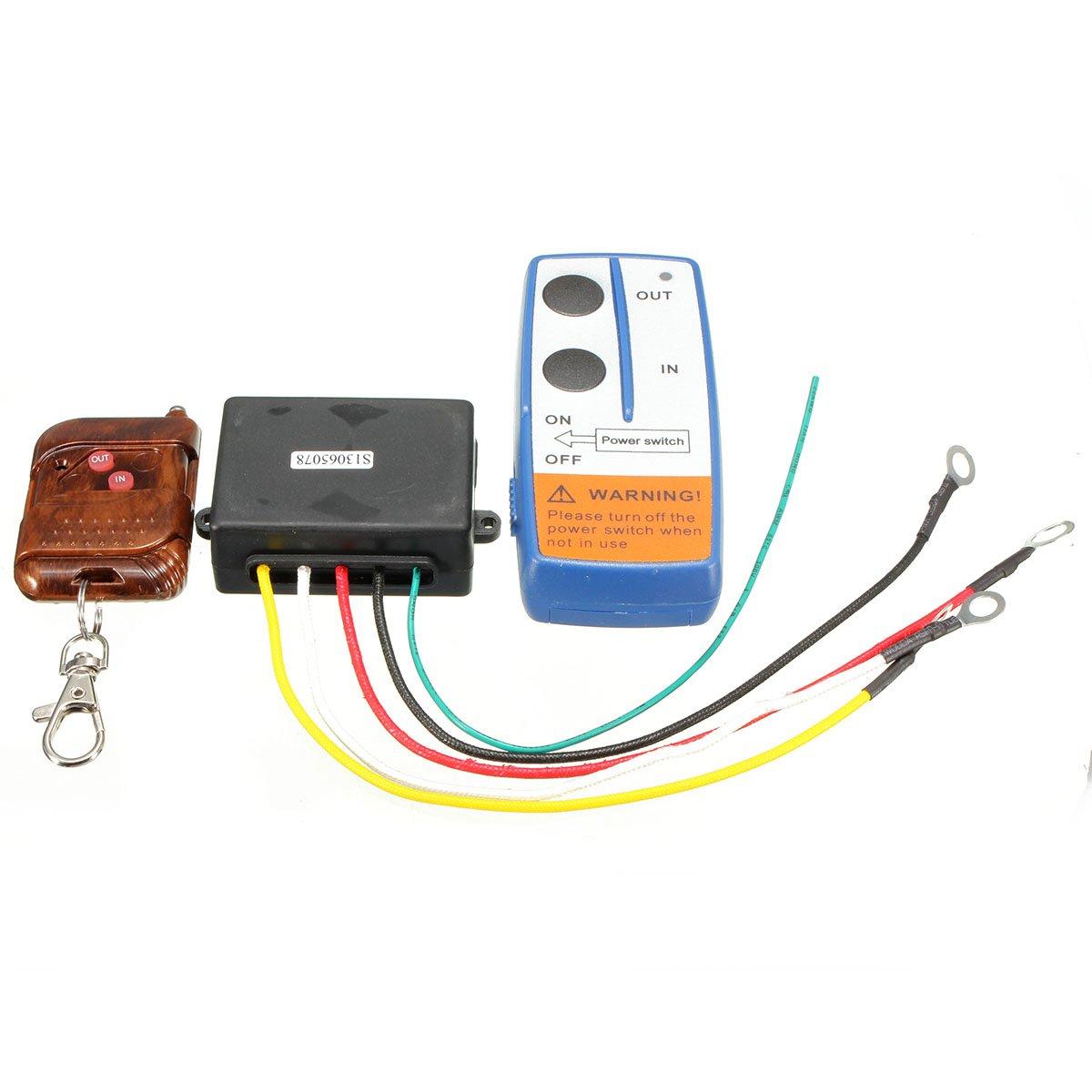 ILS –  12 V 75 ft Winch Wireless Remote Key Fob Keychain controlador Kits for TUFF Stuff I LOVE SHOPPING