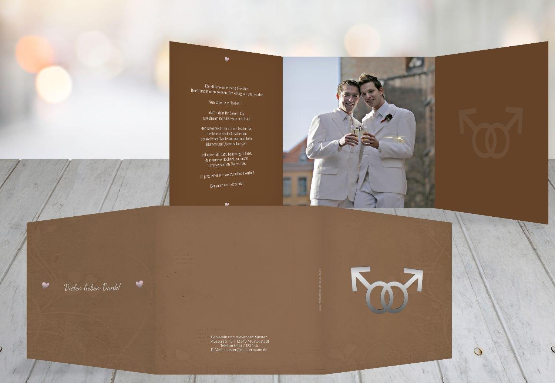 Kartenparadies Danksagung für Hochzeitsgeschenke Danke Im Im Im Zeichen der Liebe - Männer, hochwertige Danksagungskarte Hochzeitsglückwünsche inklusive Umschläge   10 Karten - (Format  145x145 mm) Farbe  dunkelOrange B01N7URA6L | Luxus bdc086