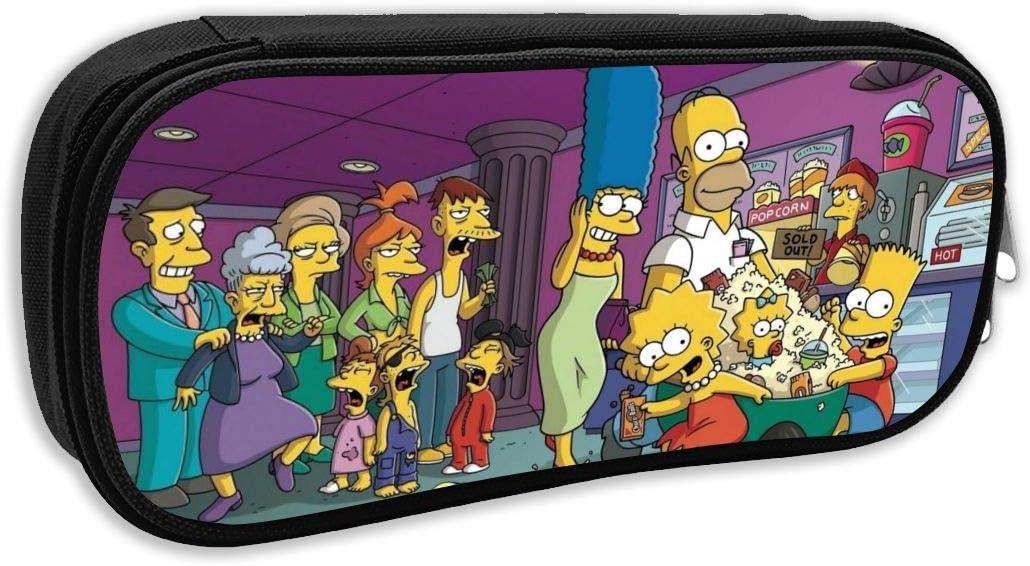Estuche para lápices de anime Simpsons de dibujos animados para estudiantes, bolsa de cosméticos, ideal para la escuela, viajes y excursiones: Amazon.es: Oficina y papelería