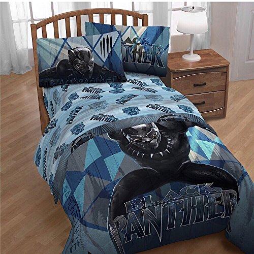 Marvel Black Panther Movie Kids Bedding Twin Sheet Set