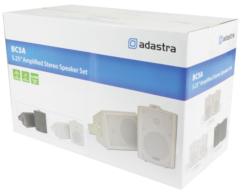 nere QTX BC5A Coppia casse attive diffusori altoparlanti da muro 30 Watt RMS, sistema a 2 vie, RCA