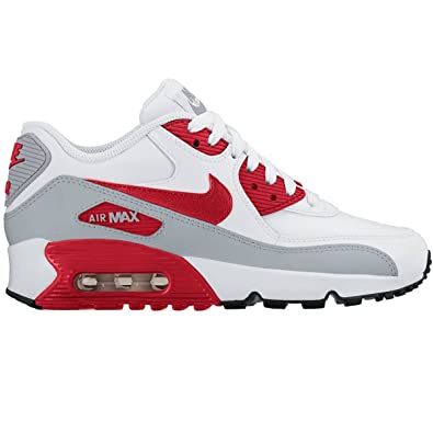 separation shoes 063c0 0912b Nike Unisex ndash children Air Max 90 leather (GS) shoe low top, Weiß