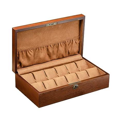 Cajas para Relojes de Madera con 12 Compartimentos Estuche ...