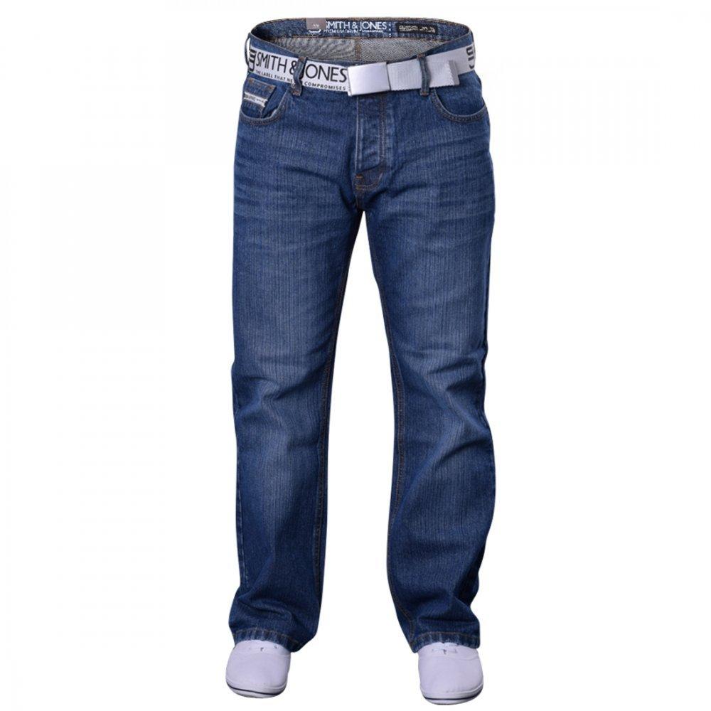 faf183c4044 Smith and Jones Mens Bootcut Flared Wide Bottom Hardwearing Fashion Denim  Jeans- Jeremilio  Amazon.co.uk  Clothing