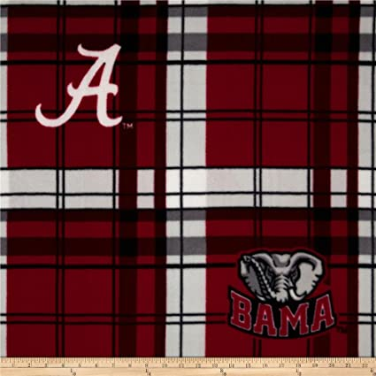 Sykel Enterprises Camo Green Collegiate Broadcloth University of Alabama Blocks Fabric by The Yard